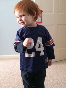 So I predicted the gender right, but couldn't have been more wrong on his team allegiance. Connor Walden came into this world with Auburn hair, and he's been a Tiger ever since.