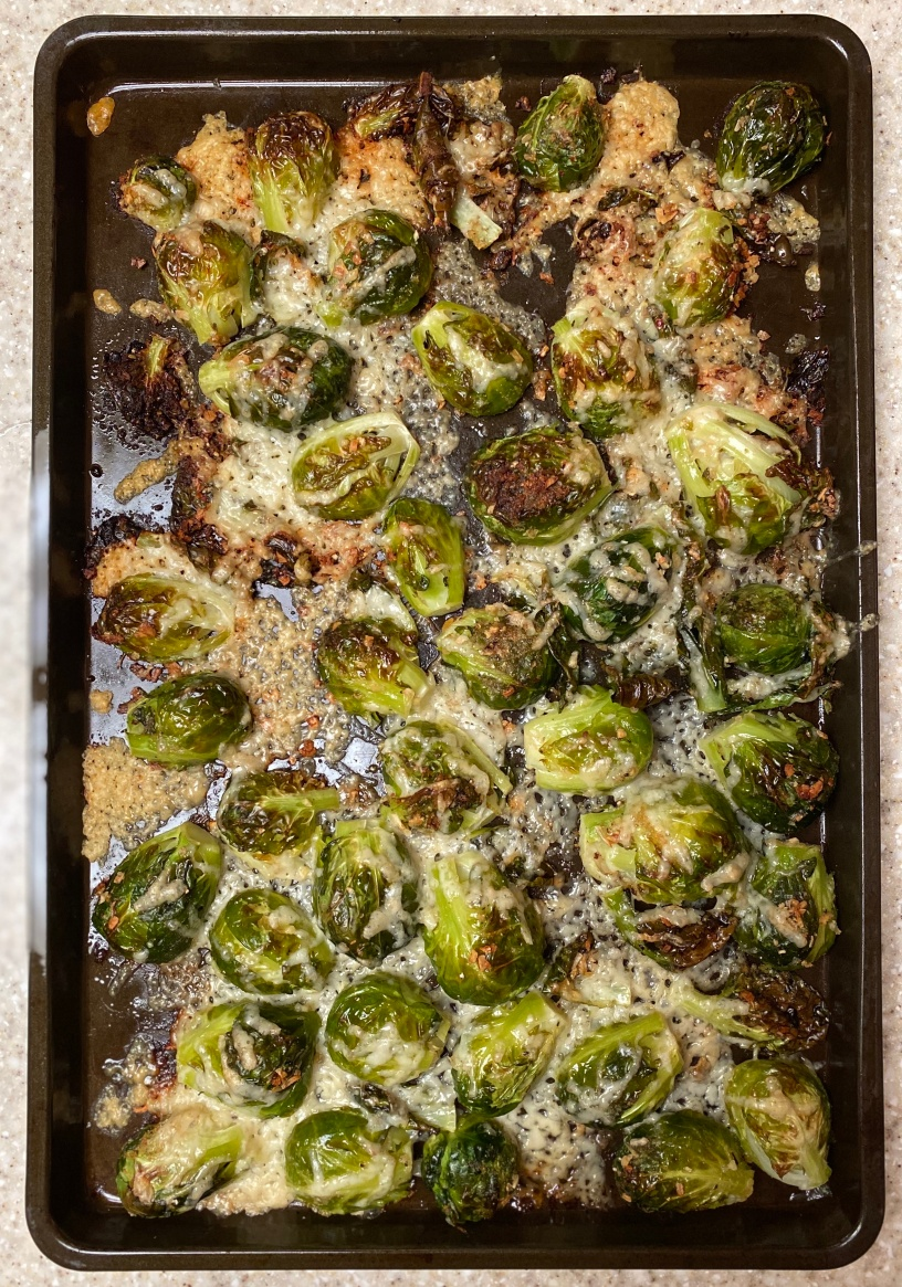 Brussels Sprouts, easy, quick, healthy eating, roasted veggies